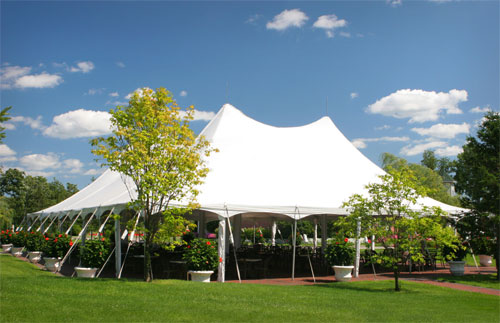 We carry a full line of party rental items including tents and inflatables